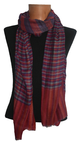 Cashmere Check Reversible Scarf