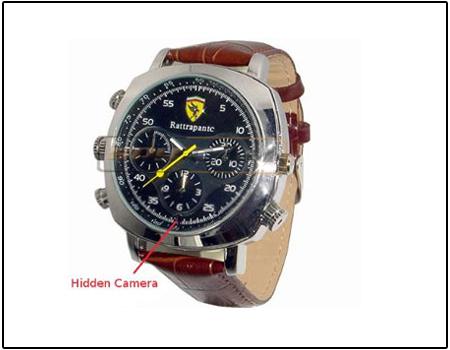 Spy 4GB Waterproof Wrist Watch Camera