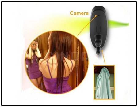 Spy Cloth Hook Camera