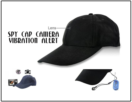 Spy Cap Camera with Vibration Alert