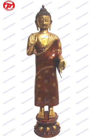 Buddha Standing (Orange Finish)