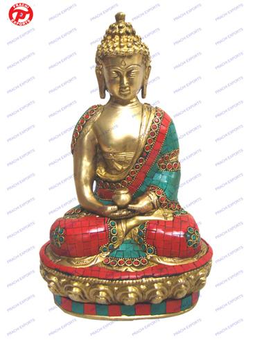 Buddha Sitting Amitabha W/ Stone Work