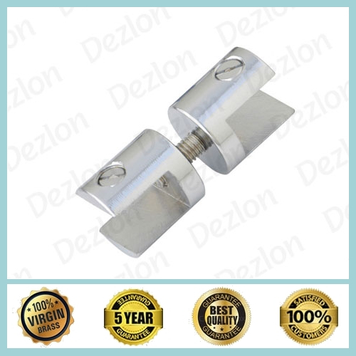 Brass Two Way Glass Bracket