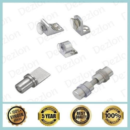 Brass Glass Buttons