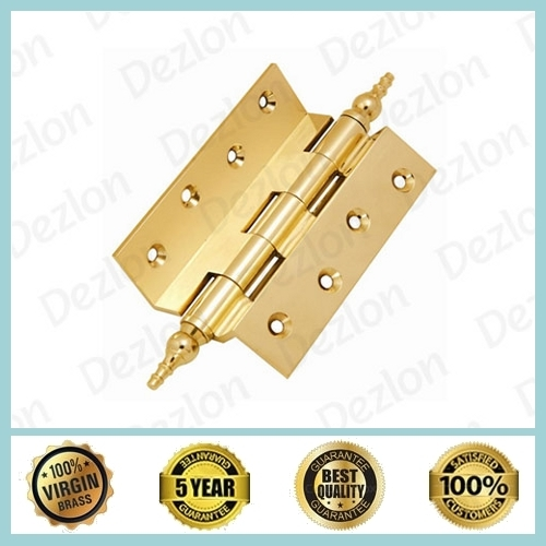 Brass Cranked Hinges with Crown