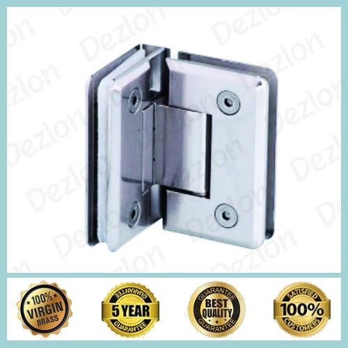 Brass Shower Hinges Glass To Glass 90 Degree