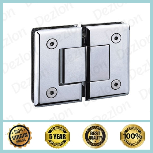 Brass Shower Hinges Glass To Glass 180 Degree
