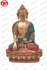 Buddha Sitting Sakyamuni W/ Stone Work