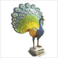 FRP Peacock Animal for Garden Decoration