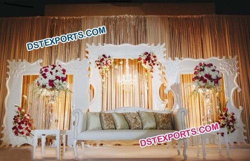 Simple English Wedding Stage Backdrop Frame
