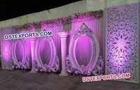 White Wedding Stage Backdrop Panels
