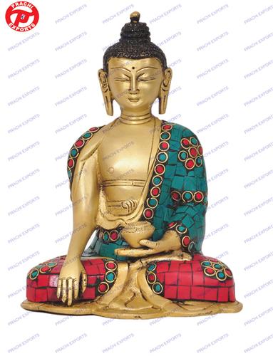 Buddha Sakyamuni W/ Out Base W/ Stones