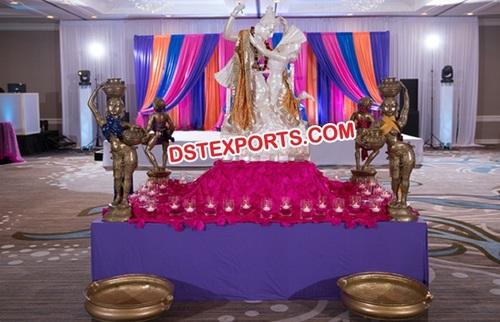 Hindu Shadi Entrance Radha Krishna Stage Decoratio
