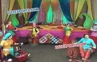 Punjabi Wedding Stage Decoration Theem