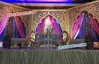 Wedding Stage Golden Carved Backdrop Panels