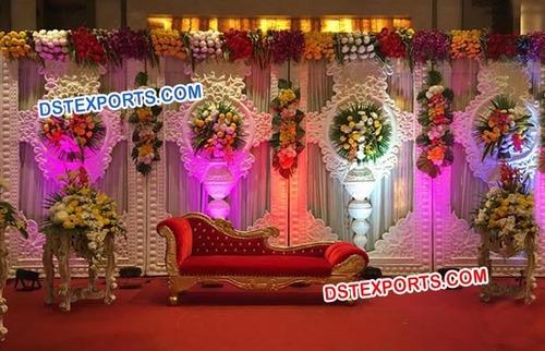 Jewel Theme Fiber Kundan Backdrop Panel