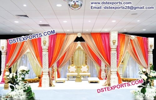 Royal indian Wedding Draped Mandap