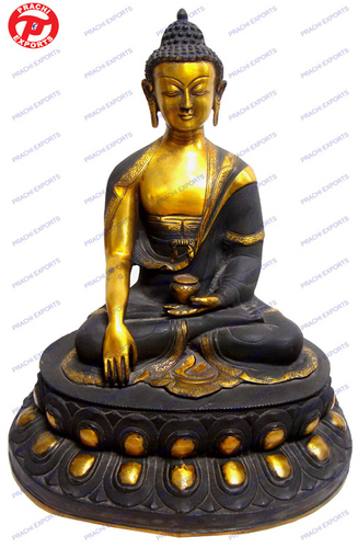 Buddha Sakyamuni In Black & Shade Look