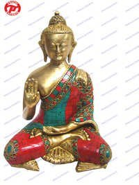 Buddha B/Hand W/Out Base W/ Stone Work