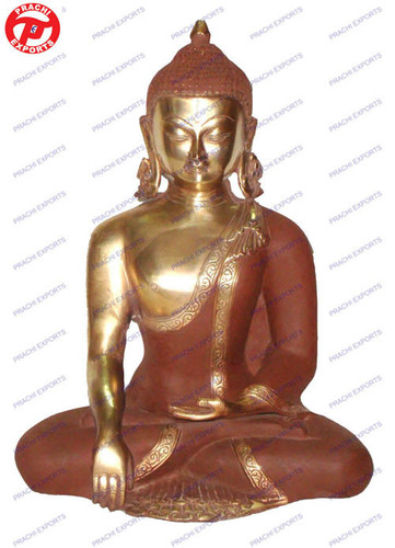 Buddha W/Out Base In Brown Shade Look