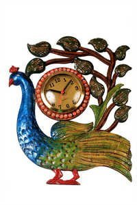 Antique Single Peacock Clock