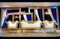 Asian Wedding Stage Deco Painted Sofa Set