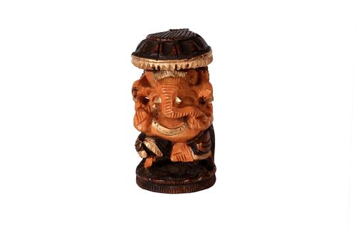 Antique Chatri Goal Ganesh Wooden
