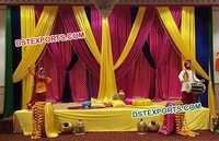 Wedding Sangeet Stage Bhangra Statues