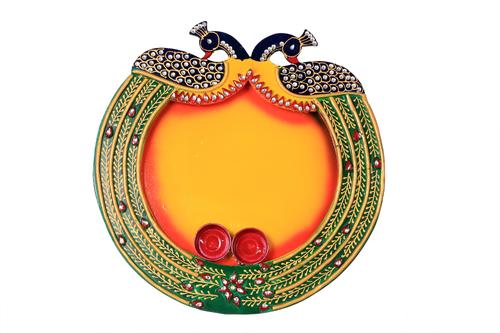 Marvellous Papper Masi Peacock Pooja Thali