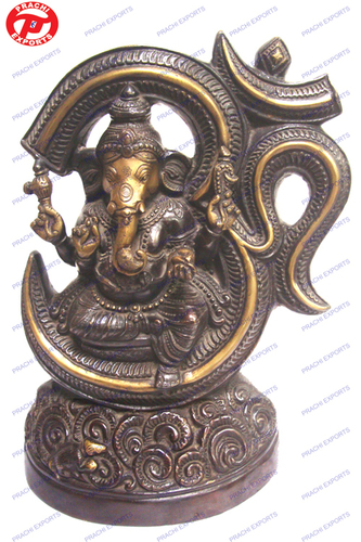 Ganesh Sitting In Om Ring