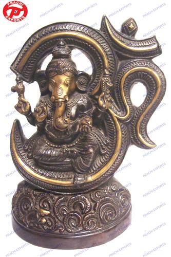 Ganesh Sitting In Om Ring