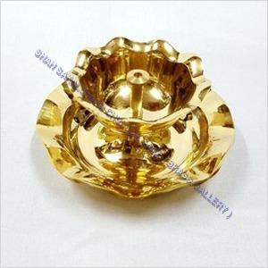 Brass Double Leher Diya
