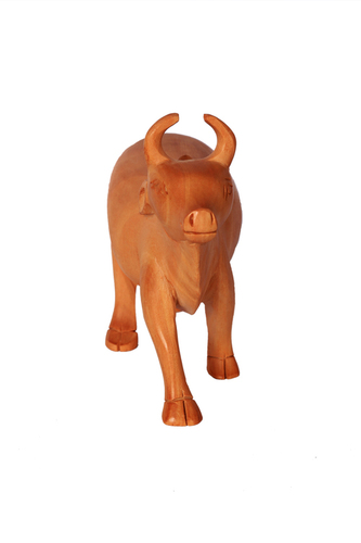 Wooden Cow Statue