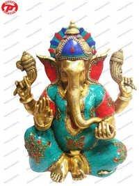 Ganesh Sitting W/Out Base Stone & Wire Work