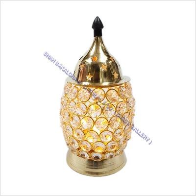 Brass Crystal Diya Ovel