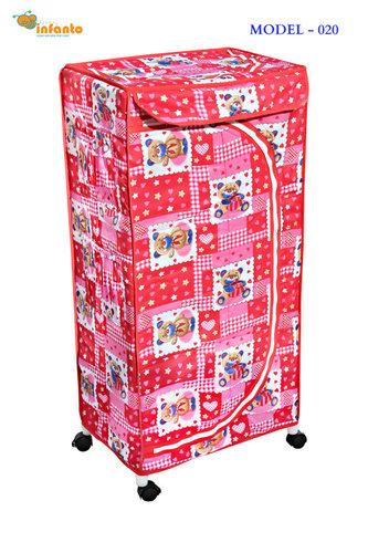 Movable Children Toy Box- Red