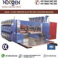 MULTI COLOUR FLEXO PRINTER SLOTTER WITH STACKER MACHINE