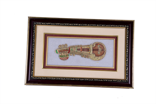 Unique Marble  Photo Frame - Golden Veena