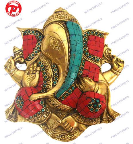 Modern Ganesh Hanging Plate Carved