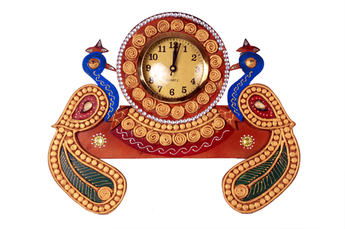 Antique Double Peacock Watch Papper Masi