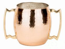 Double Handle Copper Mug