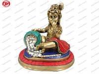Krishna Sitting W/ Stone Work