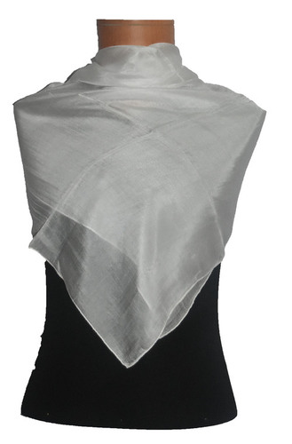 Silk Scarf Solid Color Undyed