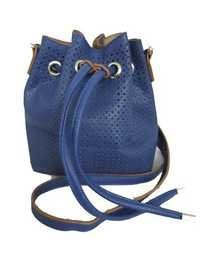 Blue Mini Bucket Bag