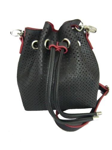 Black Mini Bucket Bag