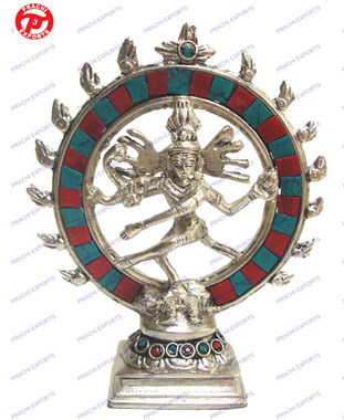 Natraj Dancing Double Ring W/ Stones