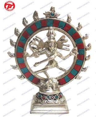 Natraj Dancing Double Ring W/ Stones