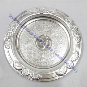 WHITE METAL POOJA ARTICLES