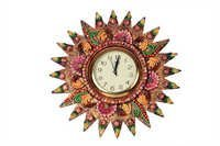 Antique Sun Flower Clock Paper Masi