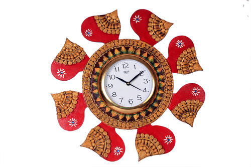 Antique Red Round Watch Paper Masi